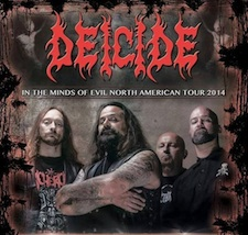 Deicide - In the Minds of Evil North American Tour 2014